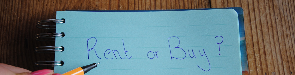 Notepad with pen writing: Rent or Buy?