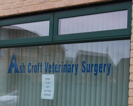 Window of Ashcroft Veterinary Surgery