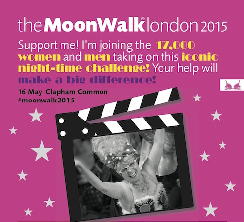 Poster for the 2015 Moonwalk in London