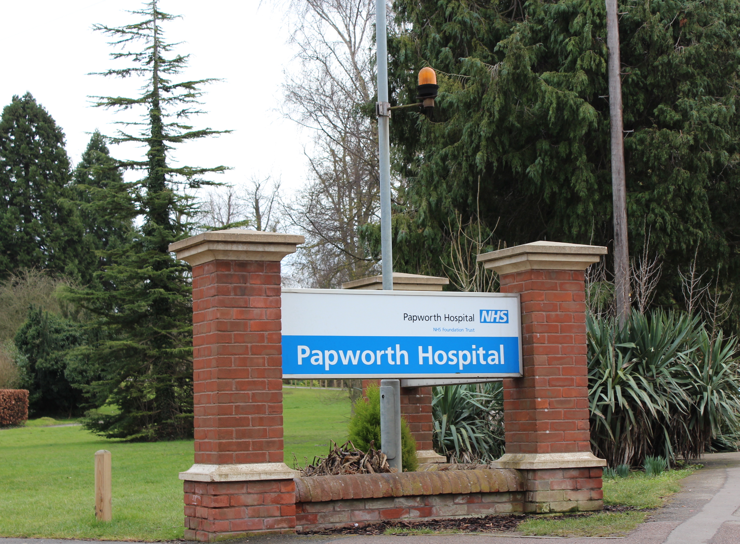 Papworth hospital sign
