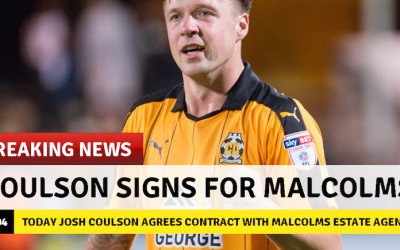 Josh Coulson has signed for Malcolms estate agents